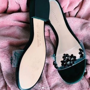 Satin Jeweled Sandals